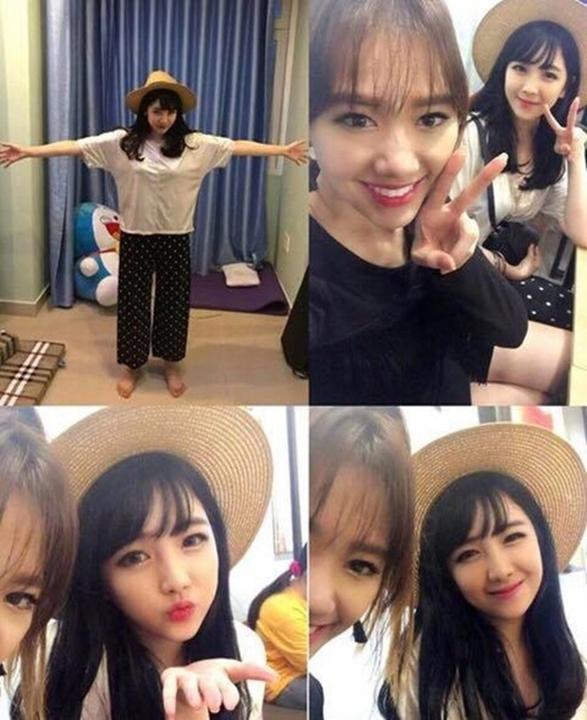 Nhan sắc 2 em gái lai Hàn Quốc của Hari Won