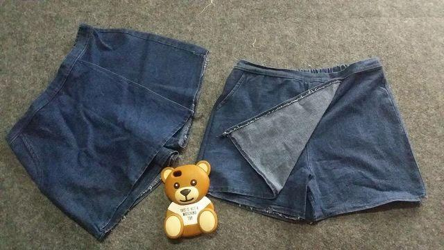 Bỏ túi cách tái chế quần jean cũ thành váy cực đơn giản
