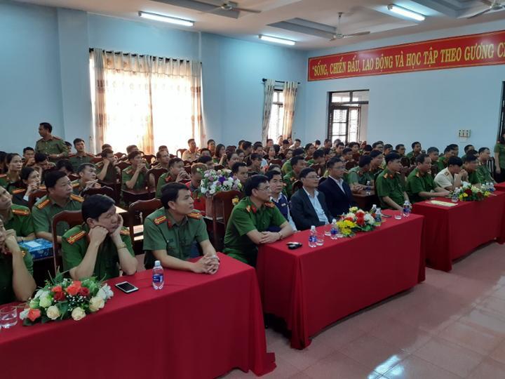 Lễ công bố Quyết định của Bộ trưởng Bộ công an về công tác cán bộ tại Công an huyện Krông Năng