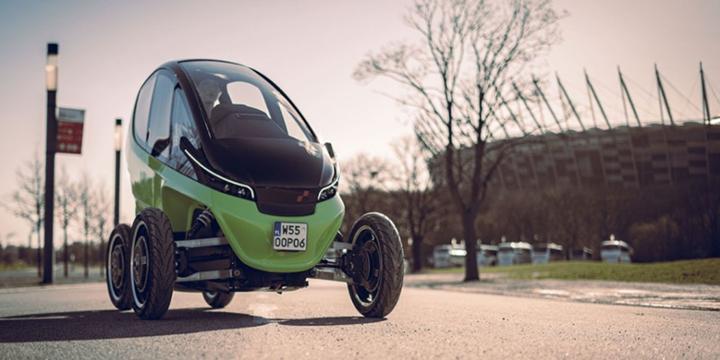 Xe điện Triggo – biến hình để luồn lách trong đô thị