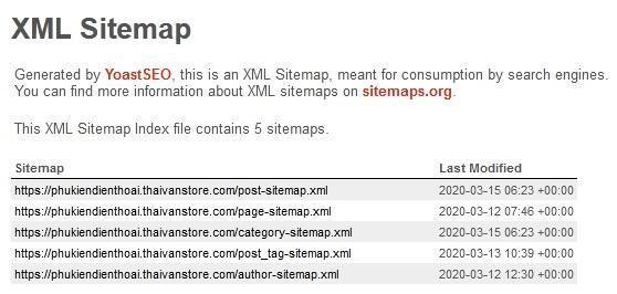 Từ khóa SEO | XML sitemap