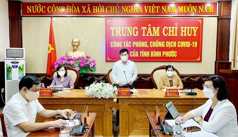 Hội nghị lần thứ nhất của Ban Chỉ đạo phòng chống dịch sau khi được kiện toàn